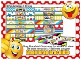 Emoji themed Brag Bracelets