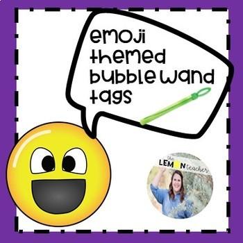 Emoji-themed Bubble Wand Tags