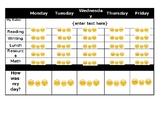 Emoji weekly behavior chart