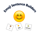 Emoji word card sentence builders (a writing manipulative)