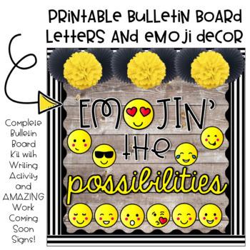 Emojin' the Possibilities Bulletin Board Kit