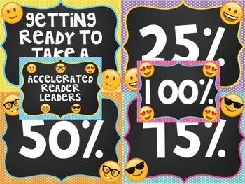 Emoji Accelerated Reader Progress Display Tracking Chart Social Media Theme