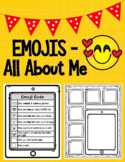 Emojis All About Me Back to School Pair and Share Activity