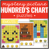 Emojis Mystery Picture Hundred's Chart Puzzles