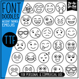 Emojis / Smiley Faces Doodle Font {Zip-A-Dee-Doo-Dah Designs}