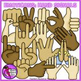 Emoticon clip art: hand signals emoji clipart