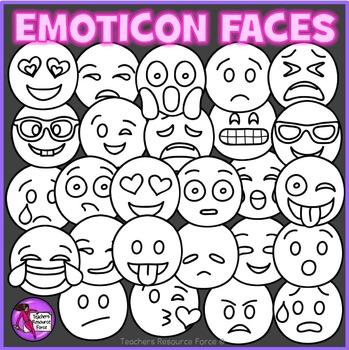 Emoji Clip Art: Emoji Smiley Faces Emoticons Clipart