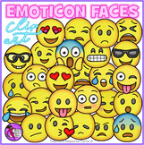 Emoji Clip Art: Emoji Smiley Faces Emoticons Clipart