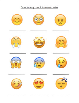 Emojis with Estar (guided notes)