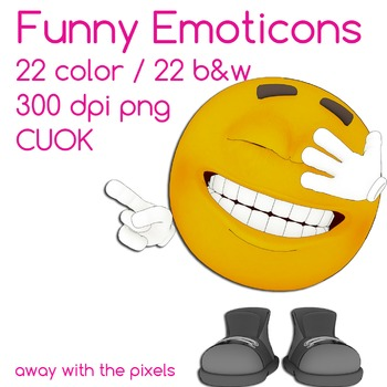Emoticon Expressions and Emotions Clip Art 22 Color Images