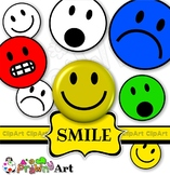 Emoticon Smiley Face Emoji Clip Art Set