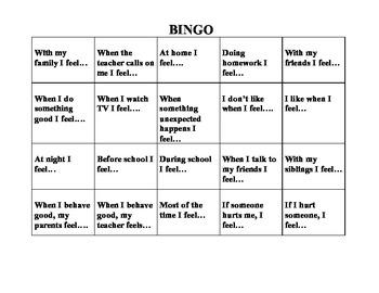 Emotion Bingo