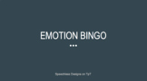 Emotion Bingo PPT