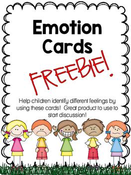 Emotion Cards FREEBIE