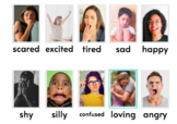 Emotion Cards (real pictures) with Matching and Sorting Game