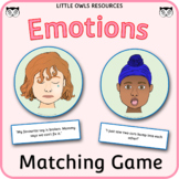 Emotion Cards with Matching Statements game - uneditable