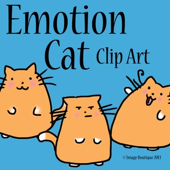 Emotion Cat Clip Art