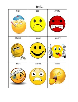 Emotion Chart for Expressing Feelings