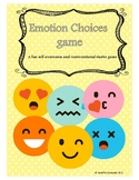 Emotion Choices game