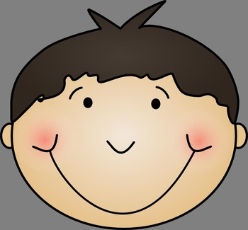Emotion Clip Art -  Boy Face Clipart - personal and commercial use