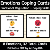 Emotion Coping Cards - Emotional Regulation, Behavior Mana