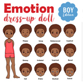 Emotion Dress-Up Paper Doll Boy for Teaching Emotional Intelligence to Kids