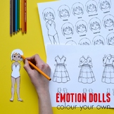 Emotion Dress-Up Paper Doll for Teaching Emotional Itelligence: Colour Your Own