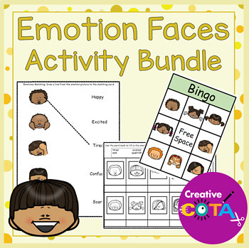 Emotion Faces Activities and Worksheets