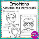 Self Regulation Emotion Faces Activities and Worksheets