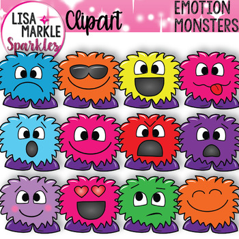 Emotion Faces Monster Clipart