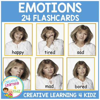 This is an image of Printable Emotion Cards with happy