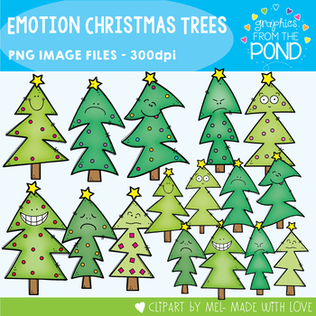 Emotion / Feelings Christmas Trees Clipart