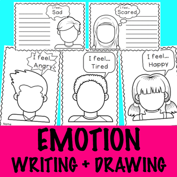 Emotions: Writing + Drawing - No Prep Activity Centre - Self Regulation/Feelings