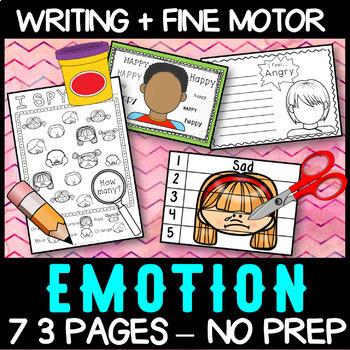 Emotions: No Prep Activity Centres BUNDLE - Self Regulation/Feelings