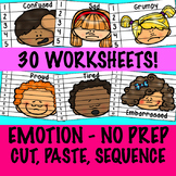 Emotions: Cut, Paste, Sequence - No Prep Activity Centre - Self Regulation