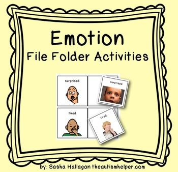 Emotion File Folder Activities