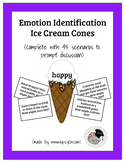 Emotion Identification Ice Cream Cones Game for School Psy