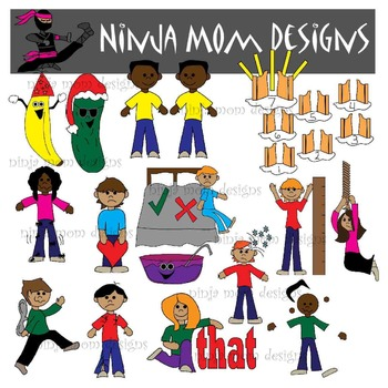 Emotion Idioms Clip Art  PART 2 in Color and Black Line