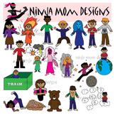 Emotion Idioms Clip Art in Color and Black Line