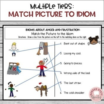Feelings Idioms:  Posters and Activities