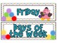 Emotion Inspired Days of the Week Labels