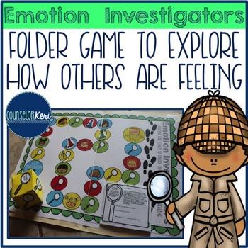 Emotion Investigators Folder Game for Elementary School Co