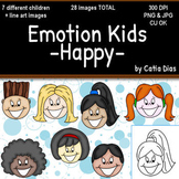 Emotion Kids - HAPPY - Facial Expressions Clipart