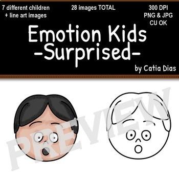 Emotion Kids -  Facial Expressions Clipart BUNDLE