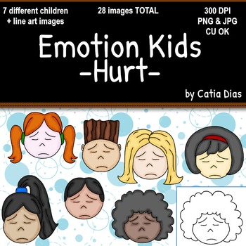 Emotion Kids - Hurt - Facial Expressions Clipart