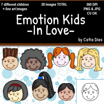 Emotion Kids - In Love - Facial Expressions Clipart