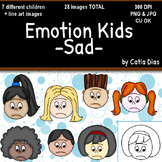 Emotion Kids - SAD - Facial Expressions Clipart