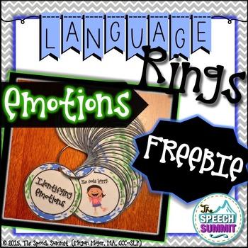 Emotion Language Rings {FREEBIE}
