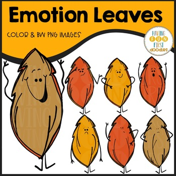 Leaf Emotions Clipart
