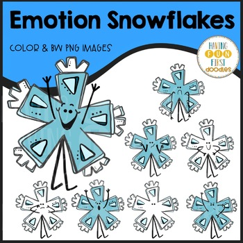 Snowflake Emotions Clipart